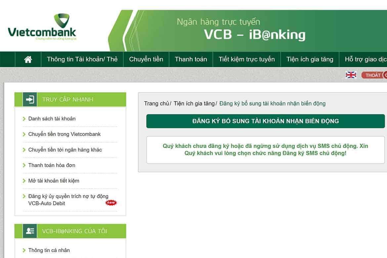 Đăng ký OTP Internet Banking Vietcombank có mất phí không?