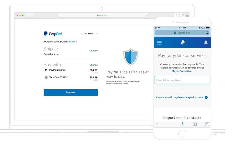 Bước 1: Khách hàng cần truy cập vào website chính thức của Paypal