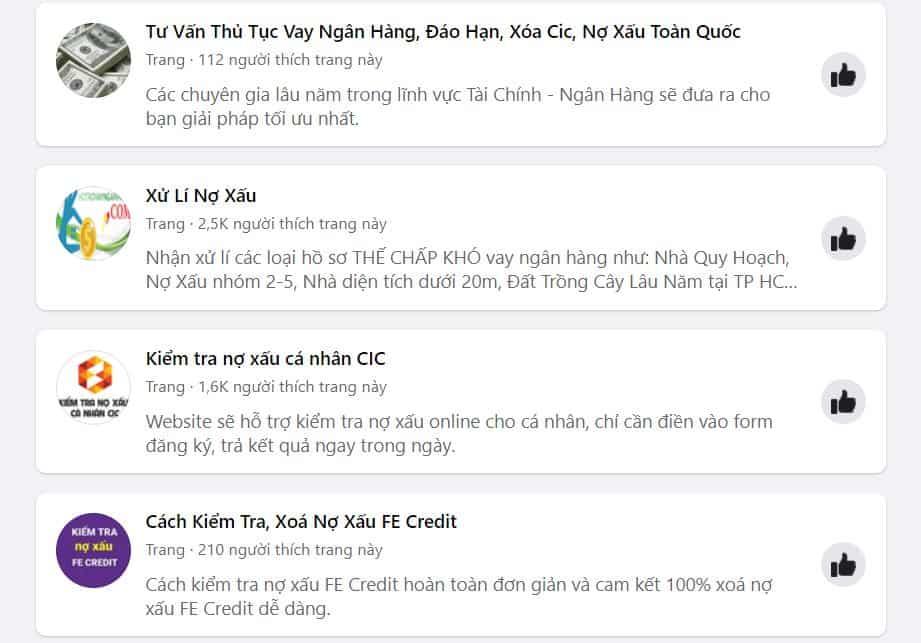 Cẩn trọng với dịch vụ xóa nợ xấu trên mạng xã hội hiện nay.