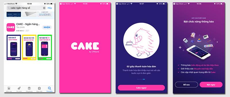 Bước 1: ải thẻ cake by vpbank về điện thoại