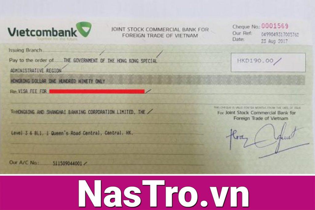 Lưu ý quan trọng rút Séc tiền mặt Vietcombank hay các ngân hàng khác