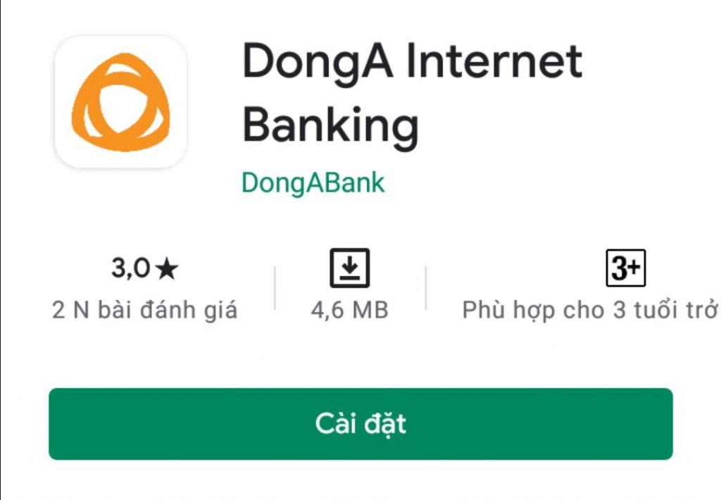 Kiểm tra số dư tài khoản qua DongA Mobile Banking