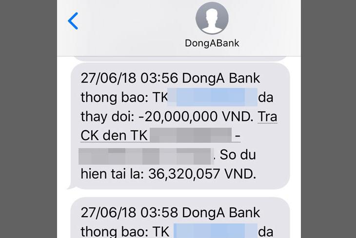 Kiểm tra số dư tài khoản qua tin nhắn SMS