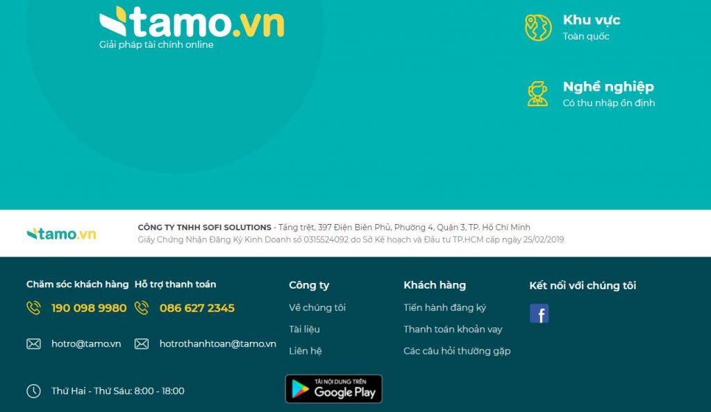 Thông tin về webiste Tamo